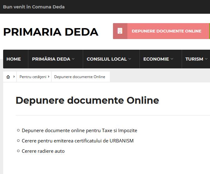 Soluția CityManager de e-guvernare implementată în Primăria Comunei Deda