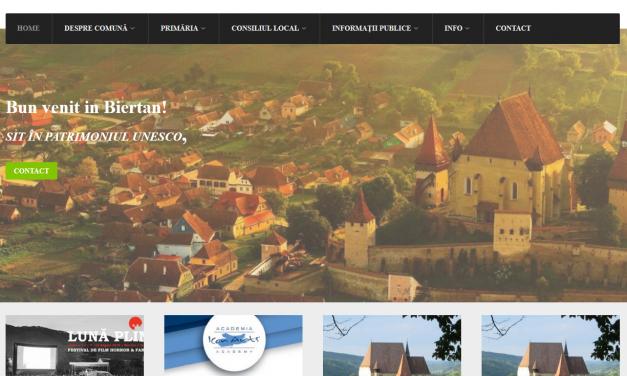 Primăria Comunei Biertan din Sibiu a ales o soluție inteligentă de digitalizare