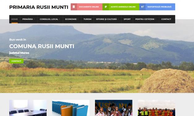 Soluția CityManager de  e-guvernare implementată în Comuna Rușii Munți