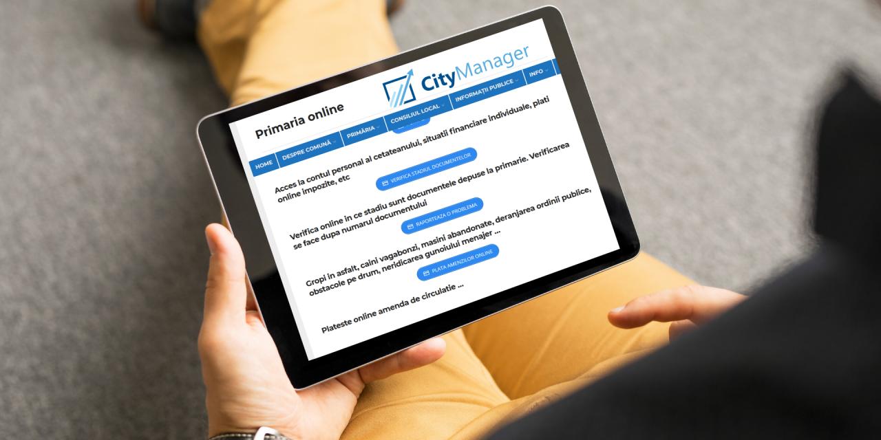 Mai multe Primării din țară și-au mutat activitatea în online prin servicii digitalizate oferite de soluția CityManager
